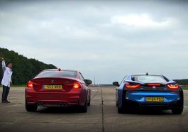 BMW-M4-vs-BMW-i8-Race-Circuit