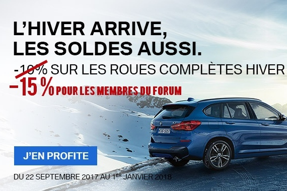 Reduction Roues Hiver BMW
